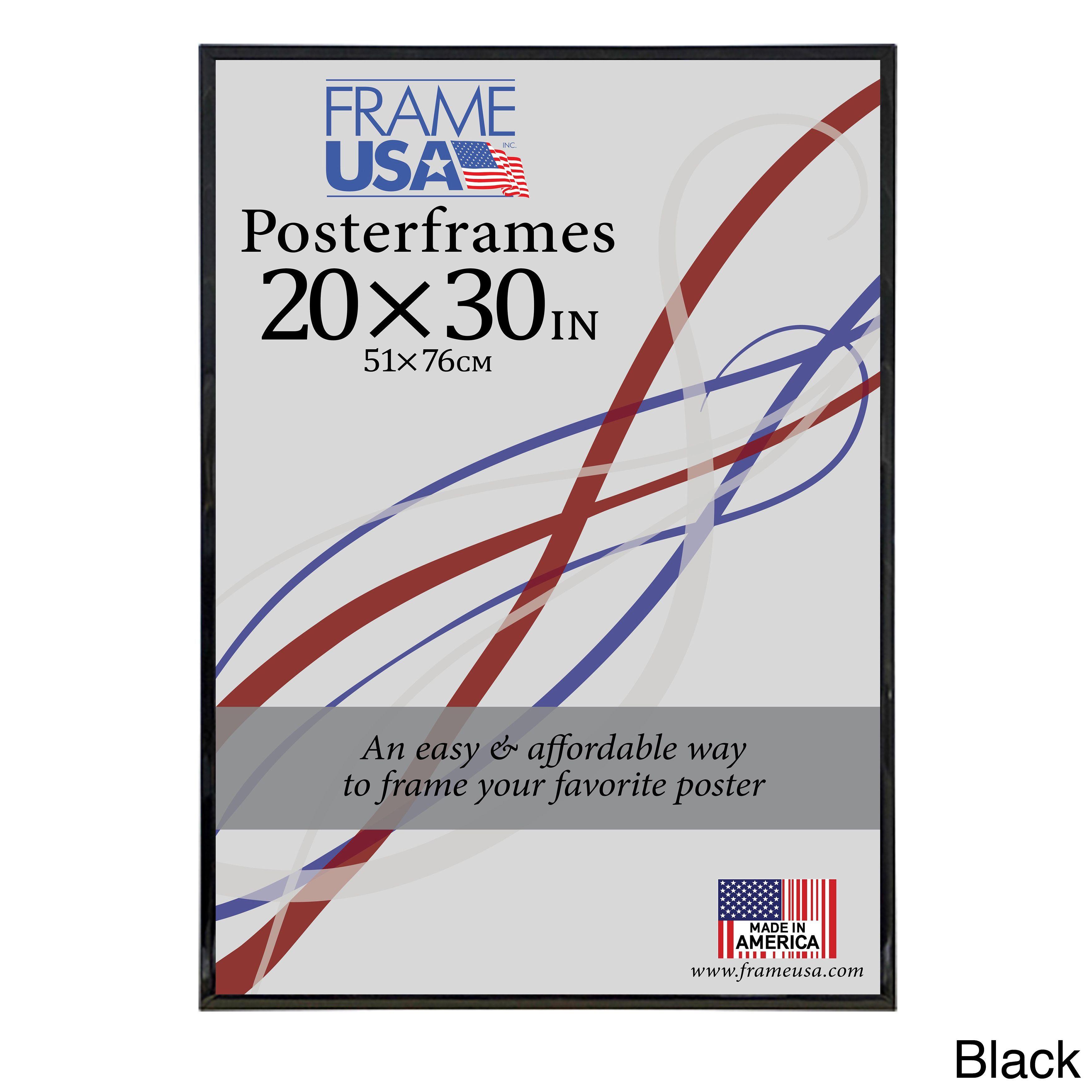 USA Corrugated Poster Frame (20x30) (Black, 20x30) (Plastic ...