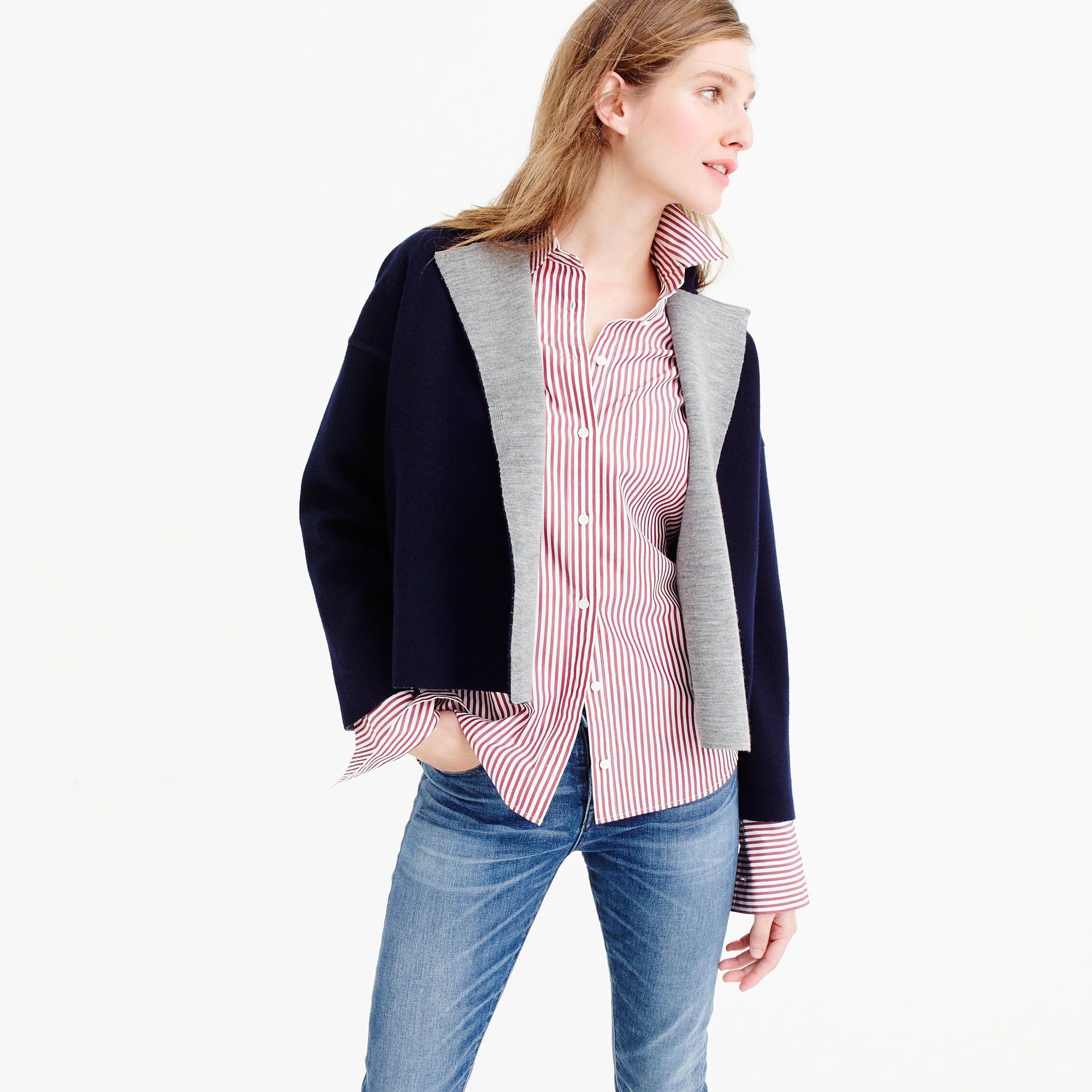 Reversible sweater-jacket : Cardigans & Shells | J.Crew | knitwear ...