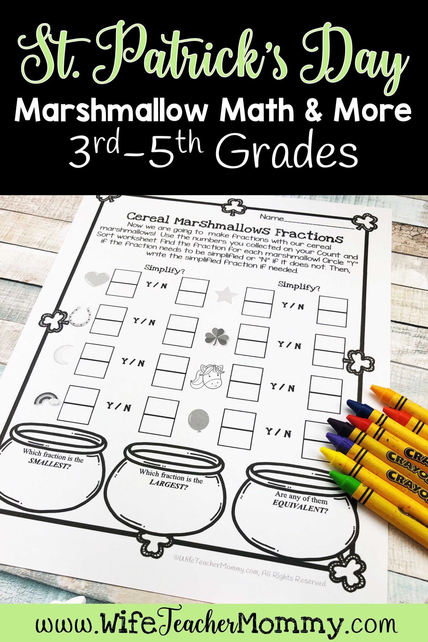 St Patrick S Day Cereal Marshmallow Math Activities 1st
