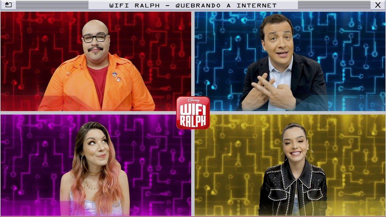Dubladores De Wifi Ralph Fazem Dicionario De Hashtags Youtube