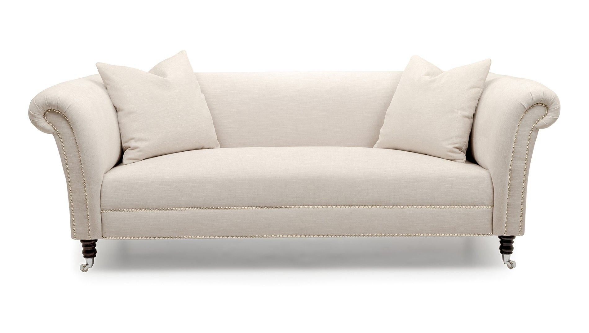 The Blair is a version of the traditional Chesterfield sofa