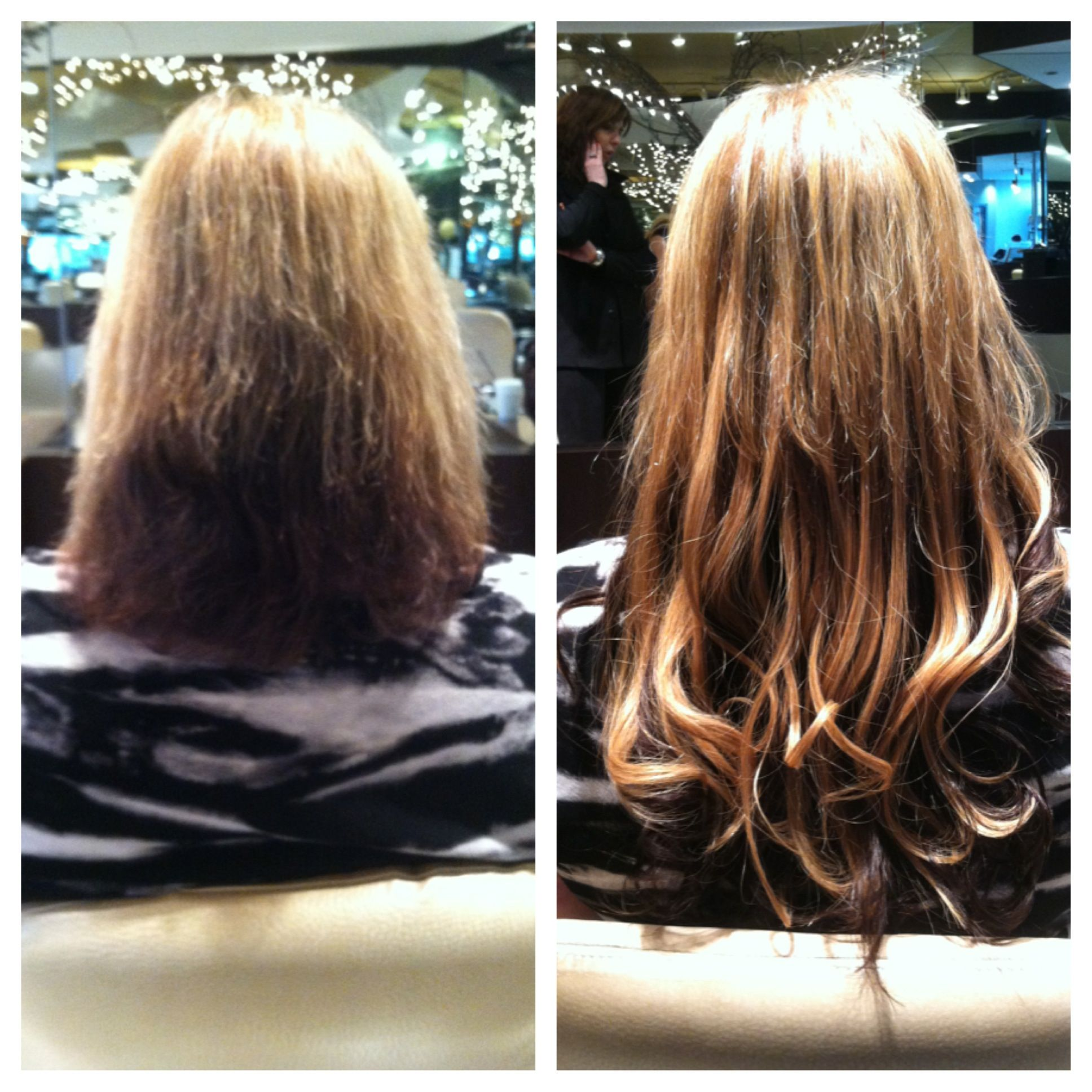 Extensions before and after Maximus Spa Salon Carle Place NY