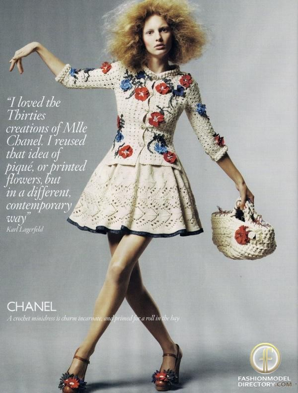 Patricia Van Der Vliet in Chanel photographed by Daniel Jackson for Vogue UK, February 2010.