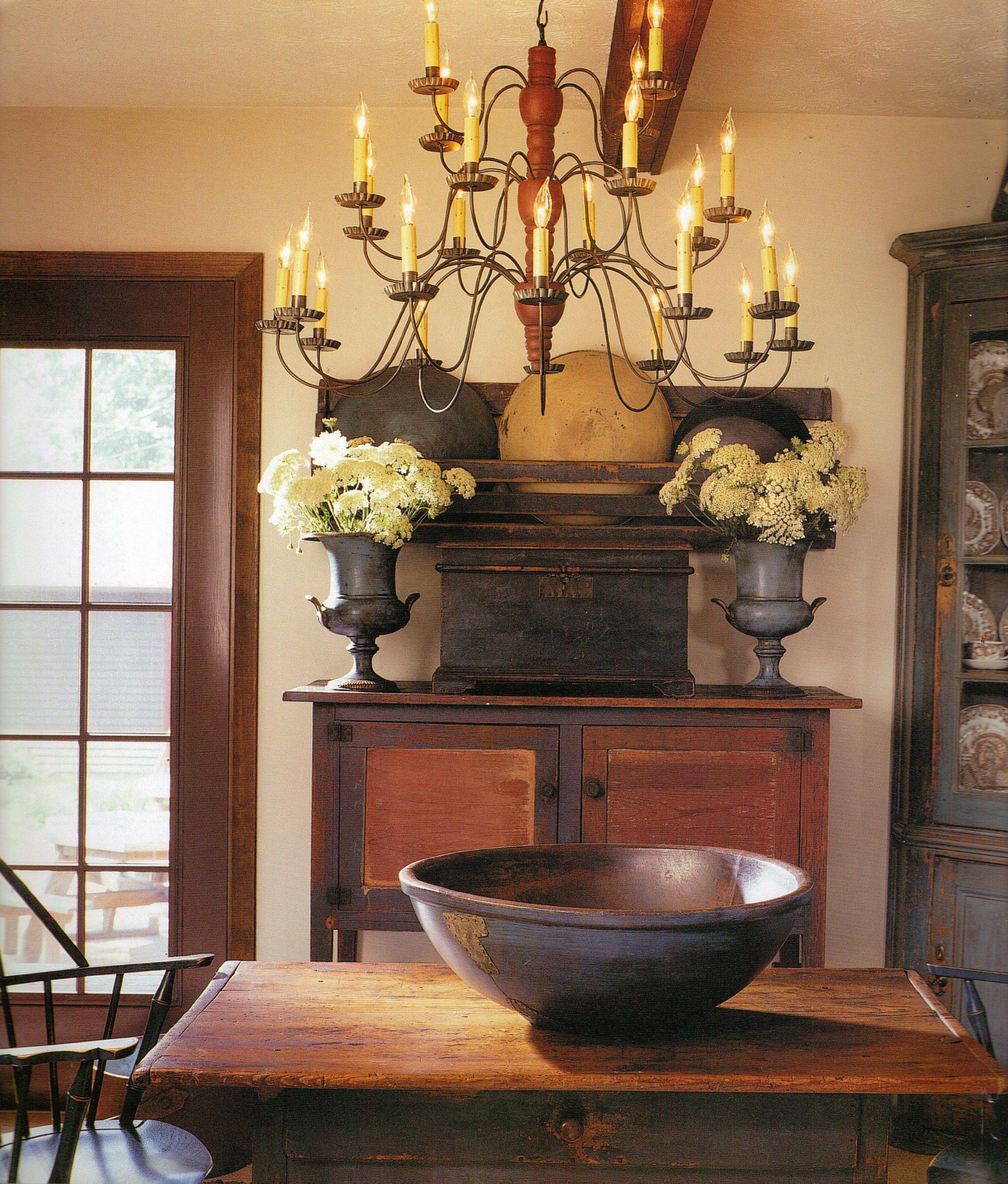 Primitive Dining Room Furniture: Linda Broughman Via Hamilton House Onto Primitives
