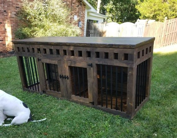 Great Dane Double Dog Kennel Furniture Xxl Tall Dog Kennel