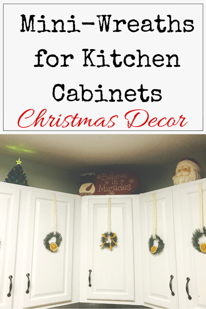 DIY Mini Wreaths for Kitchen Cabinets | Mini wreaths, Diy hanging shelves, Diy cabinets