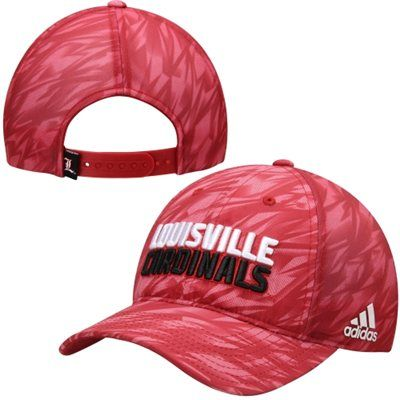 the best attitude c8755 932a6 Men s adidas Red Louisville Cardinals Sideline Dobby Slouch Adjustable Hat