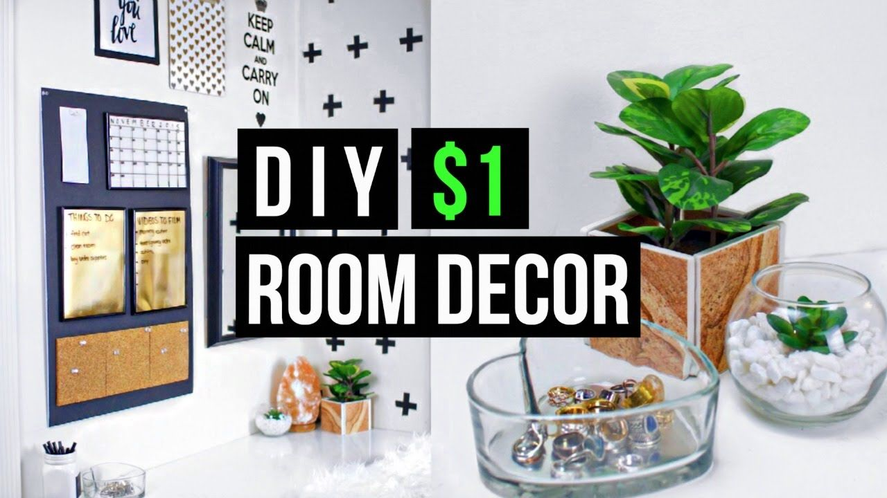 Pinterest Diy Home Decor: DIY $1 ROOM DECOR! 2015 Tumblr + Pinterest Inspired Glass