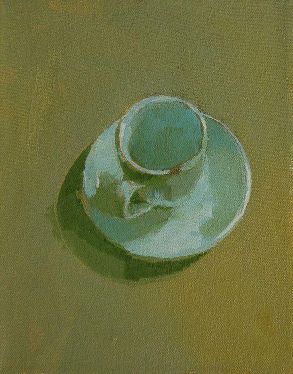 Saatchi Online Artist: Mark Horst; Oil, 2011, Painting expresso cup no. 1
