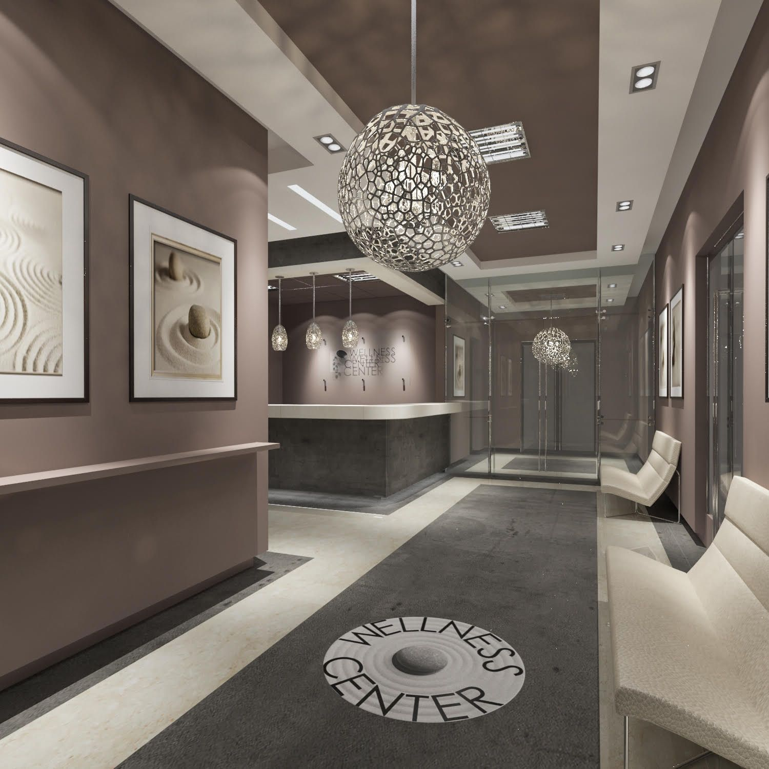 Taupe Walls Chic Sophisticated Glamorousthis Wellness Center Looks Amazing