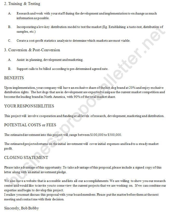 Business Proposal Letter Example 2 http\/\/www - partnership letter of intent