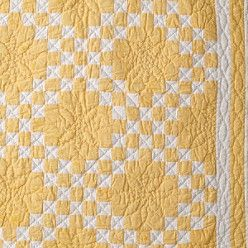 Yellow Irish Chain Variation From Land S End I Made A Blue One Very Similar To This Good Inspiration Traditional Quilts Irish Chain Quilt Quilt Patterns