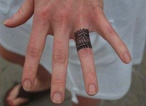 MensWeddingRingTattoosonLeftHand tattoos Pinterest