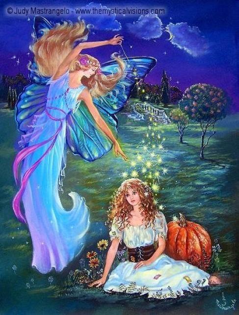 Cinderella And The Fairy Godmother Fairy Artwork Fairy