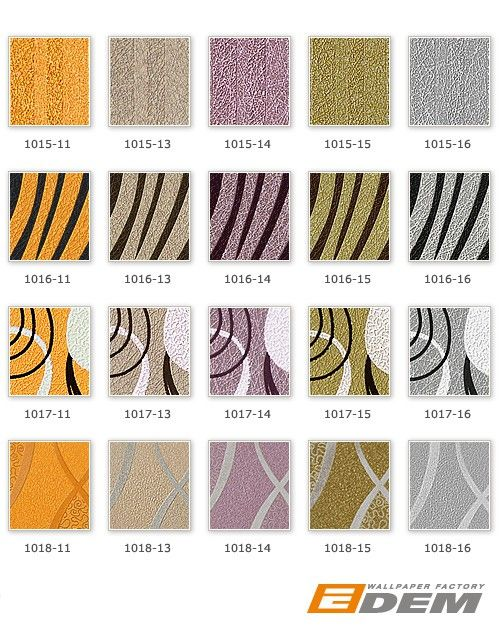 Design behangpapier vinyl abstract strepen EDEM 1018-11 motief golven patroon retro behang jaren 70 interieur goud geel – Bild 3