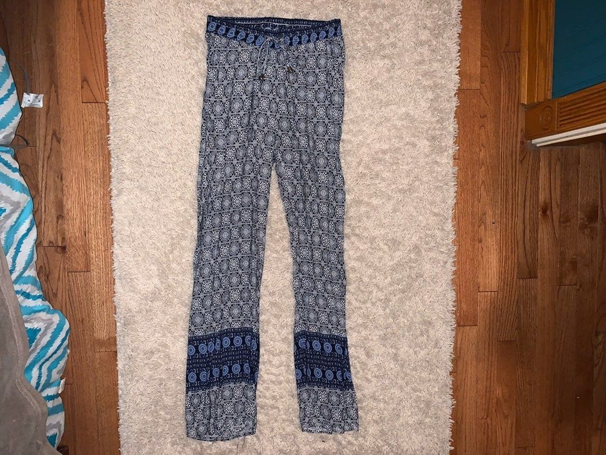 Photo of blue printed pants