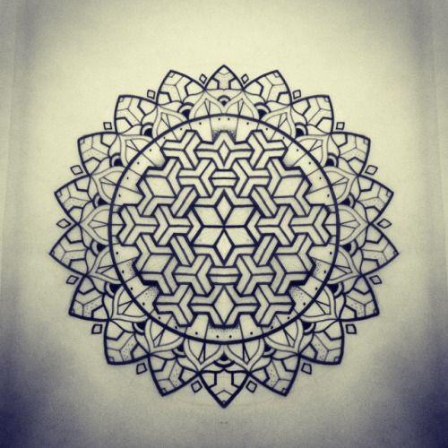 Geometric Tattoos Mandala Tattoo: Geometric Blackwork - Google Search