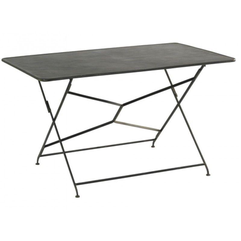 Table de jardin pliante en métal noire | jardin | Pinterest | Table ...