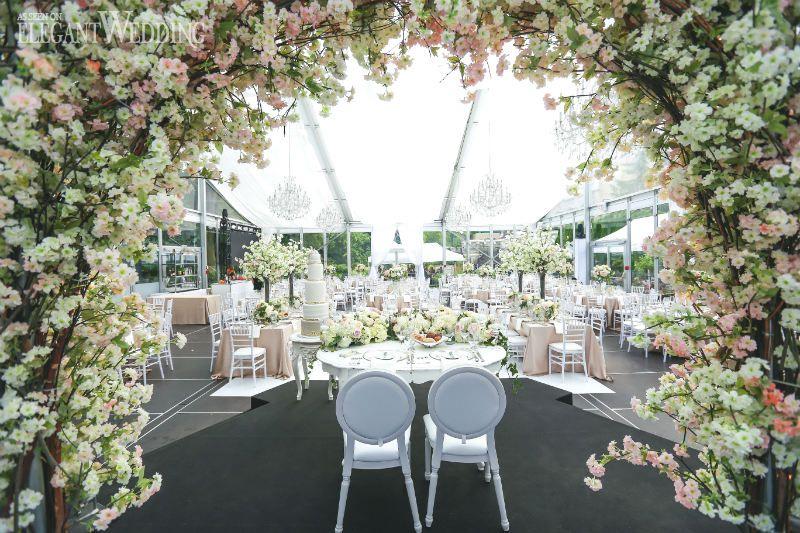 Cherry Blossom Wedding Arch For A Pink Tented Elegantweddingca
