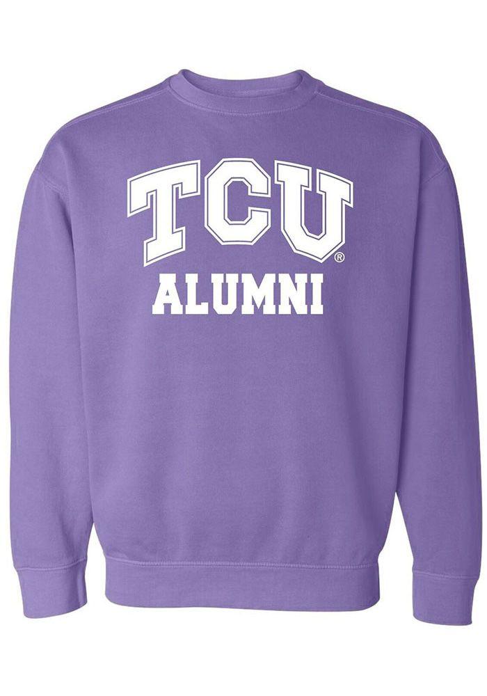 Tcu Horned Frogs Womens Purple Alumni Crew Sweatshirt 16650437