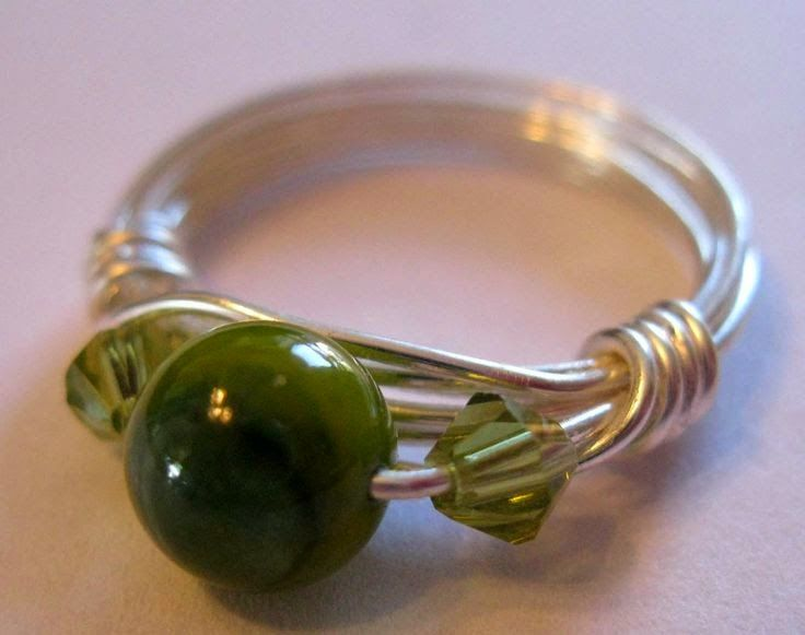 70 crafty jewelry wire wrapped ring how to make a wire wrapped button ring solutioingenieria Gallery