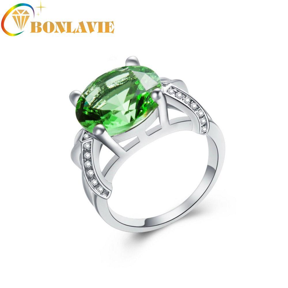 Wedding Emerald Cut Pink Topaz /& Tourmaline Gemstone Silver Ring Sz 6 7 8 9 10