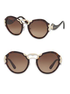 703021132f44 Round Two-Tone Sunglasses. PRADA 54MM Metal-Detail Sunglasses.  prada   sunglasses