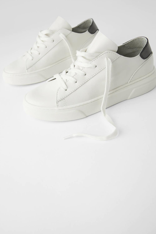 Skorzane Buty Sportowe Typu Soft Zara Polska Poland Leather Sneakers White Leather Sneakers Sneakers