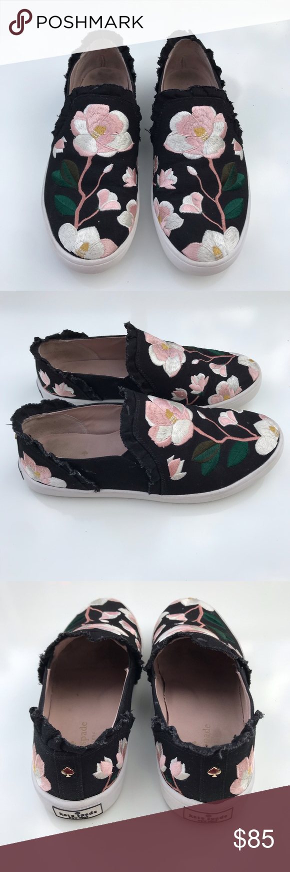 2a04eee7eb46 Kate Spade Leonie Floral Embroidered Linen Sneaker So beautiful! Overall  great condition! No trades! Size 7 kate spade Shoes Sneakers