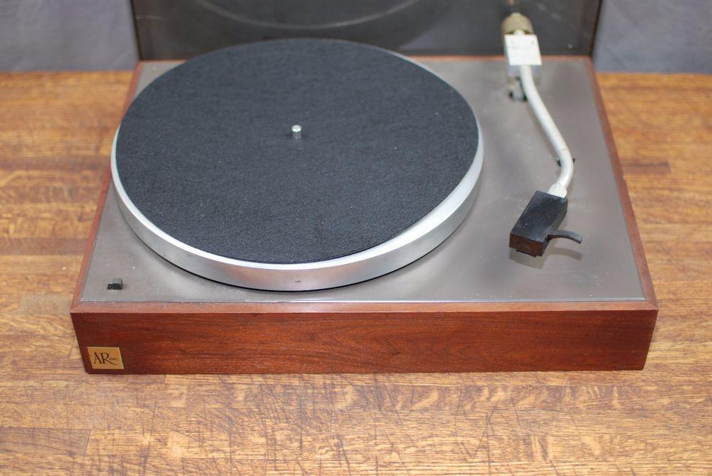 Vintage Acoustic Research AR XA Turntable Wood Base 2 Motor