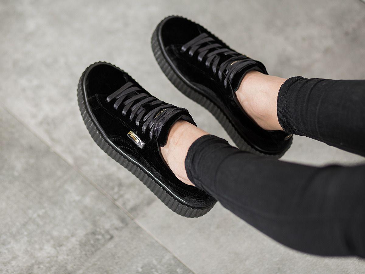 puma platform velvet black