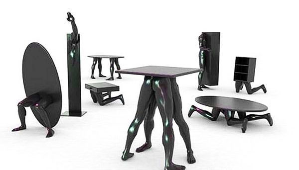 human furniture: a sadistic idea or a contemporary must-have? | 3d