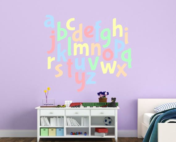 Alphabet Letter Decal Set Stickers Nursery Decals
