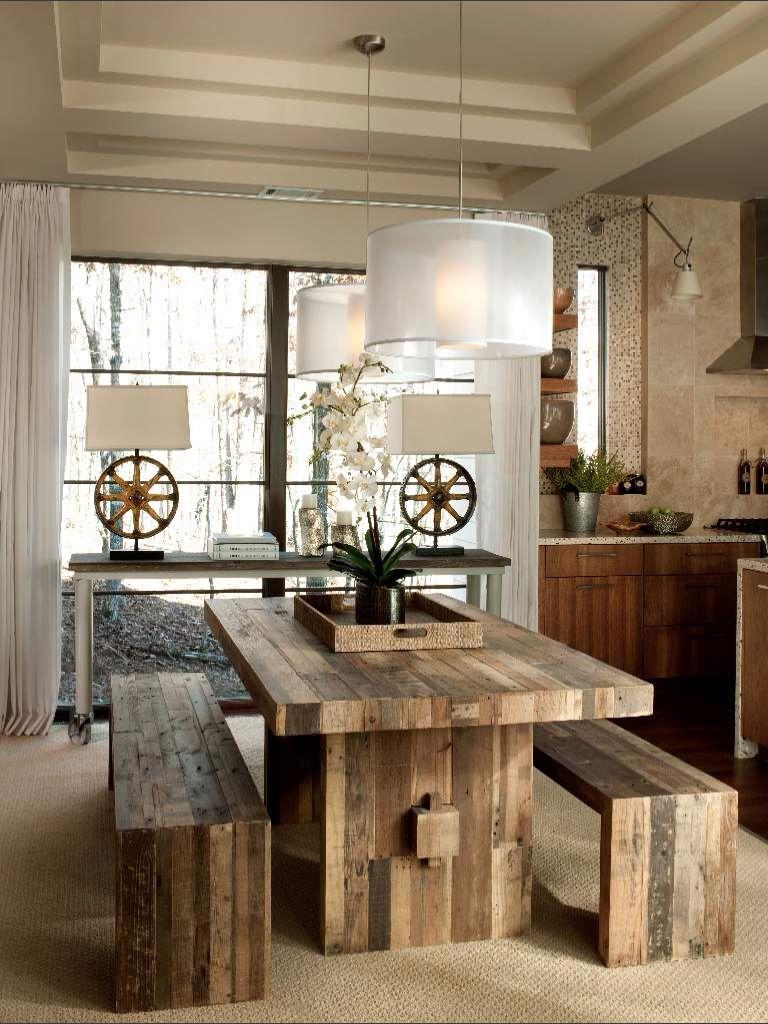 Esstisch ideen einrichten rustic  your pinterest likes  pinterest  esszimmer tisch und
