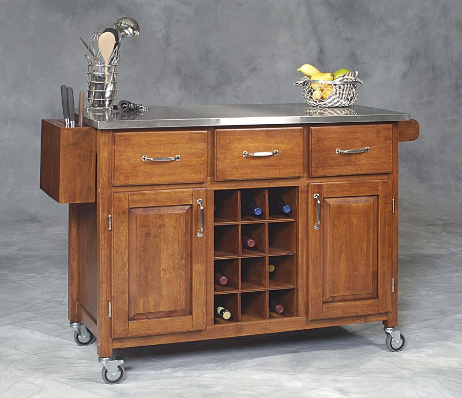 rolling island Kitchen island on wheels, Kitchen island