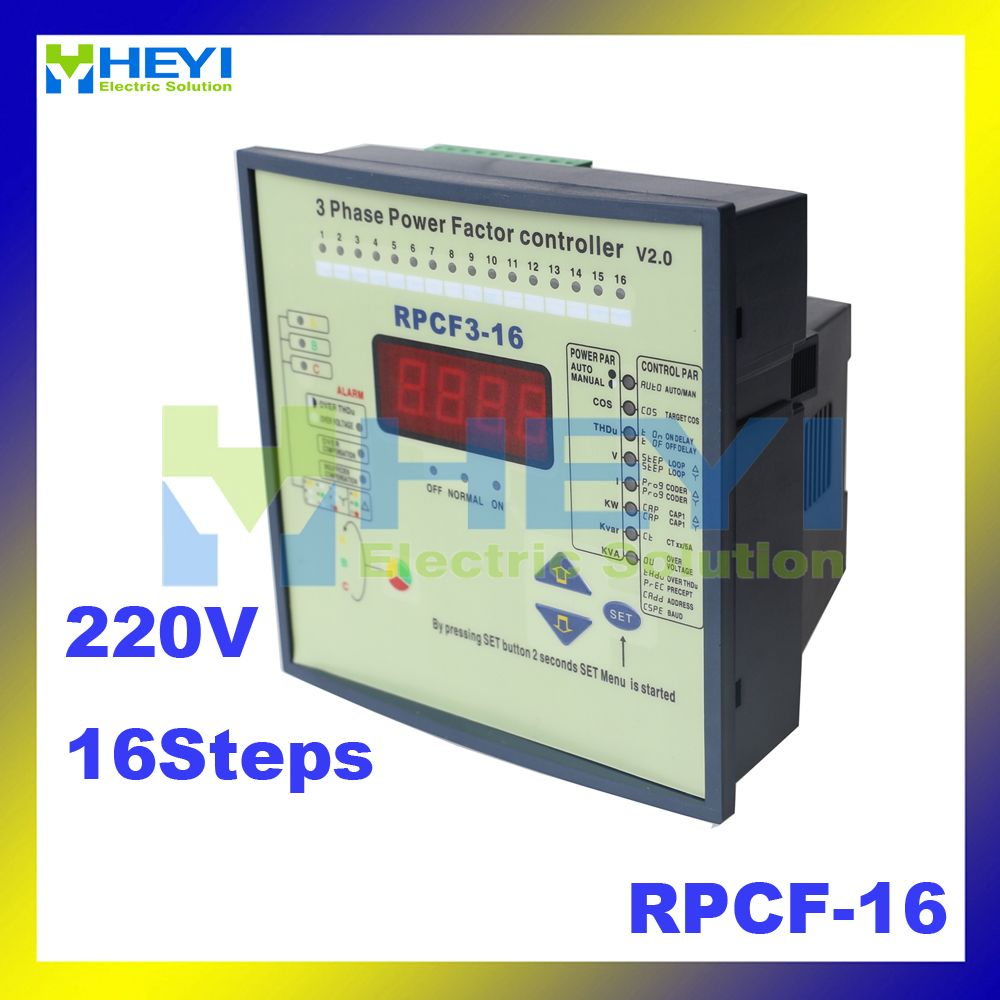 Split Phase Power Factor Correction 16step Jkwf16 Rpcf 16 220v Reactive Power Compensation Controller Cool Things To Buy Power Solutions