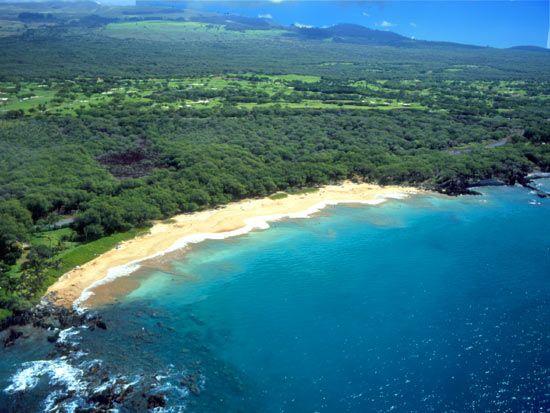 Palauea Beach Also Know As White Rock