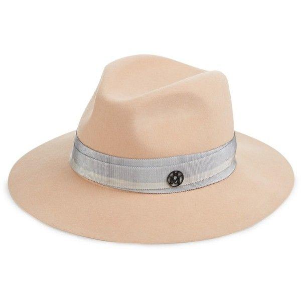 ee946ec5d5773 Maison Michel Henrietta showerproof rabbit-fur felt hat ( 743) ❤ liked on  Polyvore featuring accessories