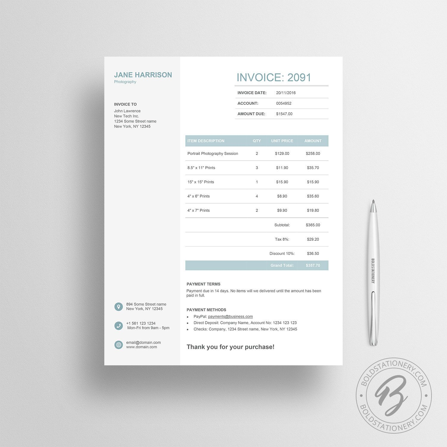 invoice template 06 receipt template invoice template for