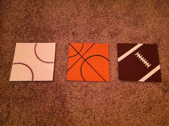 Wall art for a sports themed nursery!