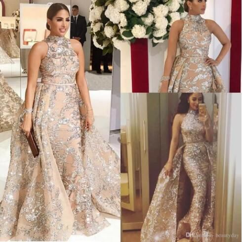f1a7e87e68c0f free shipping, $142.67/piece:buy wholesale 2019 yousef aljasmi dubai arabic  evening dresses prom gowns overskirt detachable train champagne mermaid lace  ...