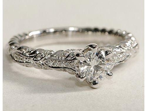 love the organic style ivy diamond engagement ring - Lord Of The Rings Wedding Rings
