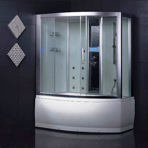 Wasauna Sassari Steam Shower Room Tub Combination Unit 2 Persons Capacity 13 Jets 3kw Steam Generator 220v 15am Steam Showers Steam Generator Shower Room