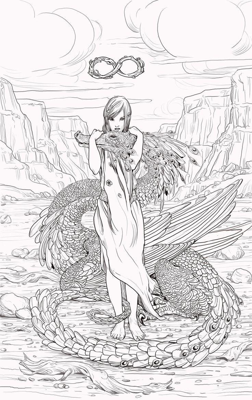 Half Pixie Dragon Fentezi Risunki Raskraski Risunki