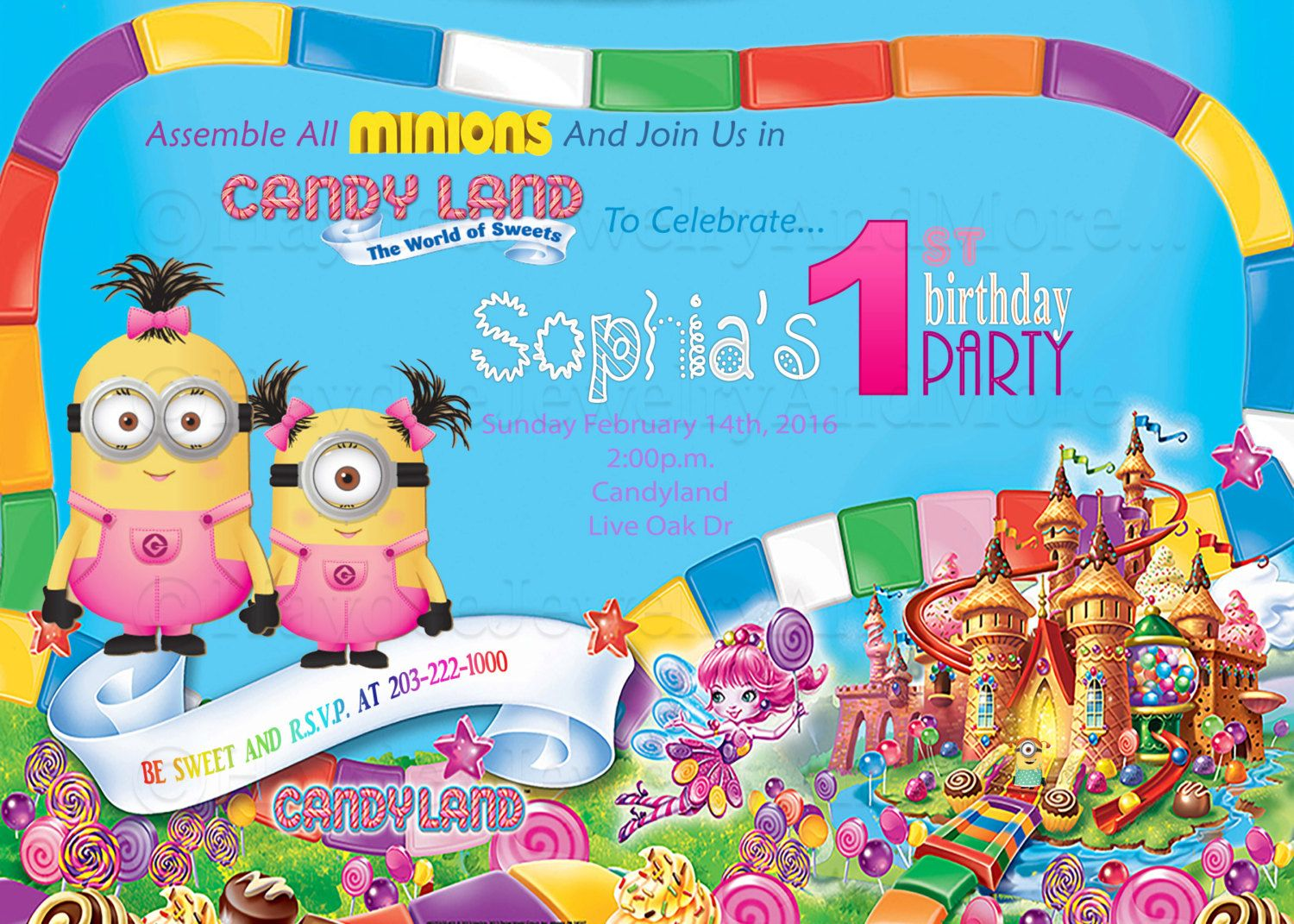 Minions Candy Land Birthday ThemeMinions And Candy Land Birthday