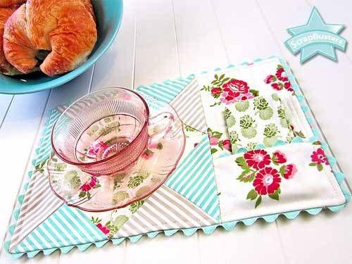 Mug Rug With Napkin Pocket Free Sewing Pattern