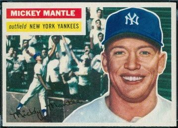 Check For High Grade Mickey Mantle Card Bounces Mickey Mantle Old Baseball Cards Baseball Card Values