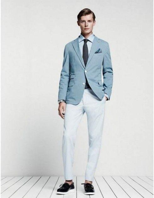 grayish-blue-linen-suit | Dapuurr Dan | Pinterest | Blue linen ...
