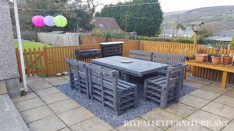 Salle à manger pur le jardin de palettes | Garten | Meubles de patio ...