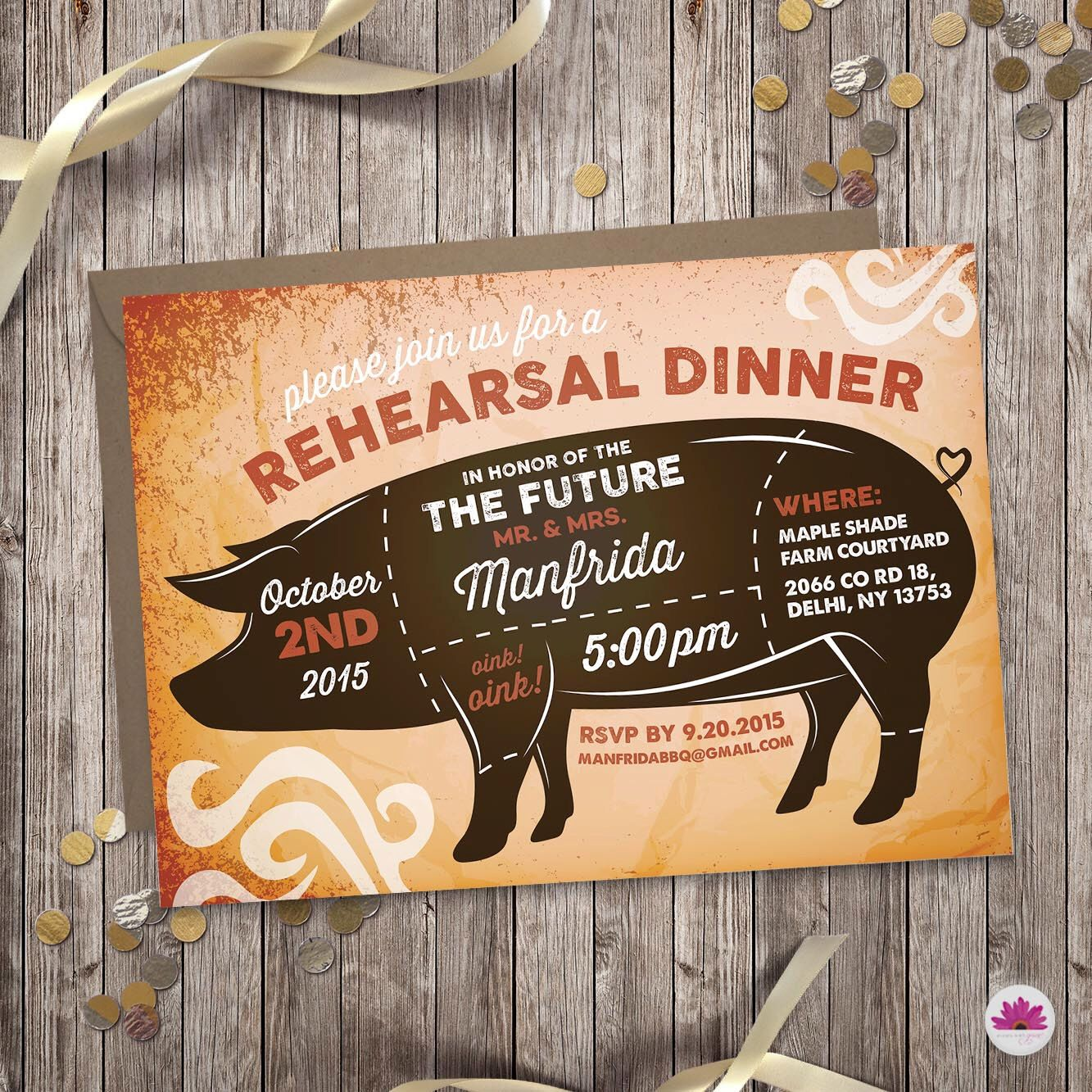 creative wording for rehearsal dinner invitations%0A Rehearsal Dinner Invitation  u     Pig Roast  Digital file  by EventswithGrace  on Etsy https